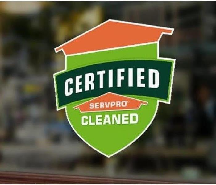 Certified:SERVPRO Cleaned Program